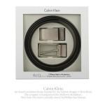Calvin Klein LOGO霧面替換式皮帶 組 ^(咖啡色^)103401~1