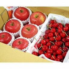 【鲜果日志】蜜礼赞樱桃礼盒(日本蜜苹果6入+智利樱桃2.5台斤)