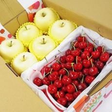 【鲜果日志】金苹礼赞樱桃礼盒(日本金星苹果6入+智利樱桃2.5台斤)
