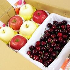 【鲜果日志】金红招财樱桃礼盒(樱桃2.5台斤+蜜苹果3入+金星苹果3入)