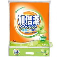 【加倍潔】茶樹+小蘇打制菌洗衣粉(4.5kgx4包/箱)