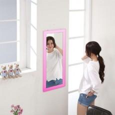松木 壁掛鏡35x60cm 粉色