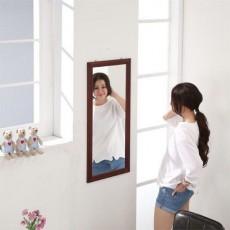 松木 壁掛鏡35x60cm 棕色