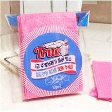 【韓國 DAILY WATER】拋棄式菜瓜布(含清潔液)10入x5包
