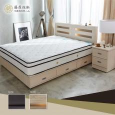 【藤原傢俬】6抽床底兩件式房間組(3層收納床頭+6分6抽床底)G1037