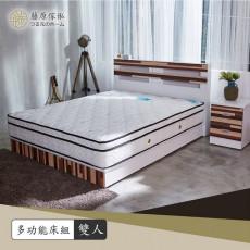 【藤原傢俬】白色森林兩件式房間組5尺雙人(3層收納床頭+3分床底)G1002