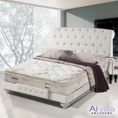 【Ai-villa】六星級舒柔布記憶膠三線獨立筒床墊(雙人)860088