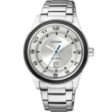 CITIZEN Eco-Drive光動能黑色颶風鋼帶女用腕錶(FE1094-65A)