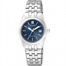 CITIZEN Eco-Drive復古風格光動能女用腕錶(EW2290-62L)