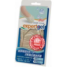 【expertgel愛倍多】五趾隱形襪|高伸縮性 | 添加AEGIS抗菌成份| 抑菌防臭| 足弓五趾隱形襪 (S、M、L)_1雙入