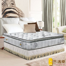【smile思邁樂】黃金睡眠五段式舒柔布正三線乳膠獨立筒床墊3.5X6.2尺(單人加大)860151