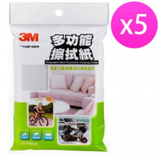 【3M】 多功能汽車擦拭布PN1014(10片/包)X5入