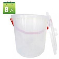 洗車桶-川流水桶A02 (把手顏色不同,隨機出貨)X8入