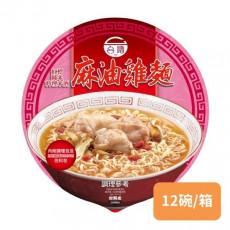 【台酒】紅標米酒麻油雞(碗)麵200g*12碗