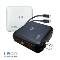 【LAPO】 WT-01AW 10000mAh多功能無線充電快充行動電源(請使用FB或LINE登入購買)